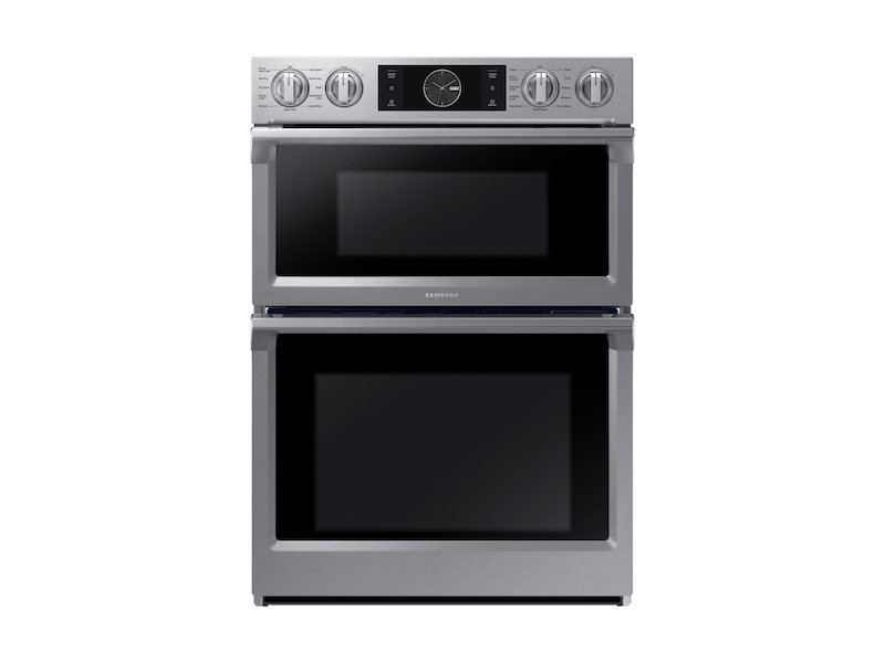 30 smart microwave combination wall oven with flex duo in stainless steel