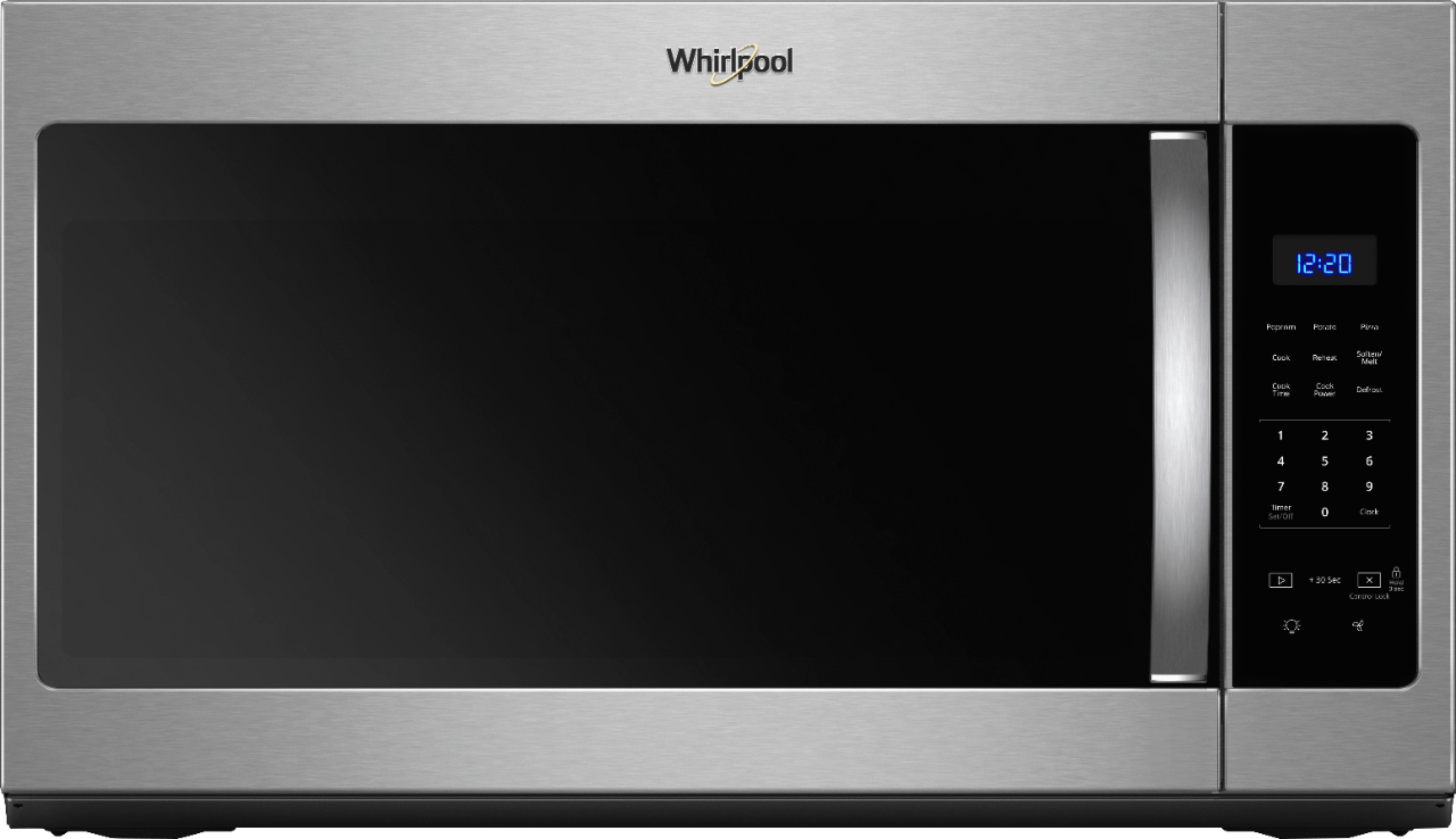 whirlpool 1 7 cu ft over the range microwave stainless steel