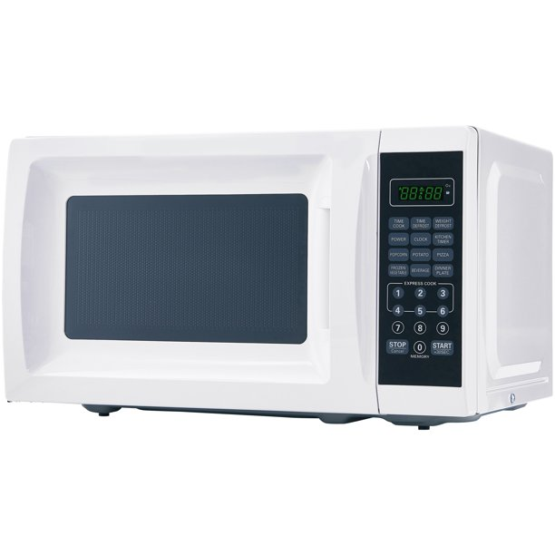 mainstays 0 7 cu ft 700w white microwave oven