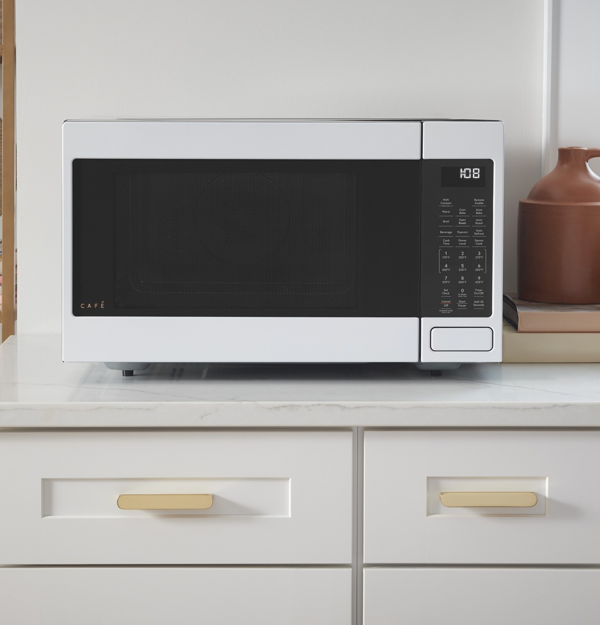 cafe 1 5 cu ft smart countertop convection microwave oven ceb515p4nwm